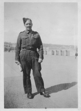 Jack Lindsay in Army Uniform 1943
