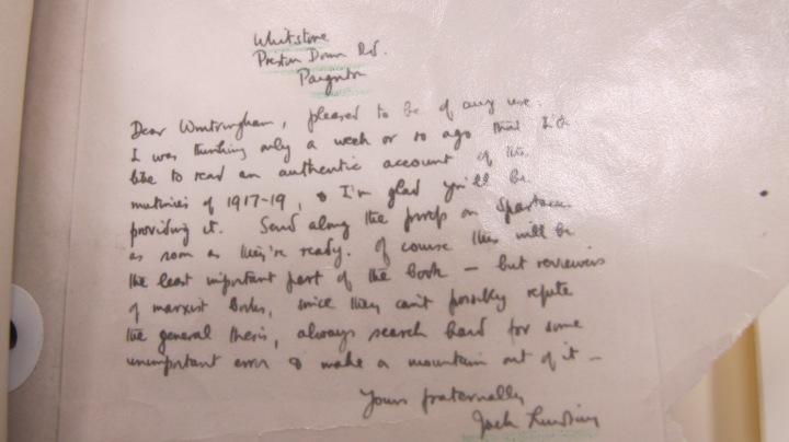 Mi5 Report on Jack Lindsay Letter