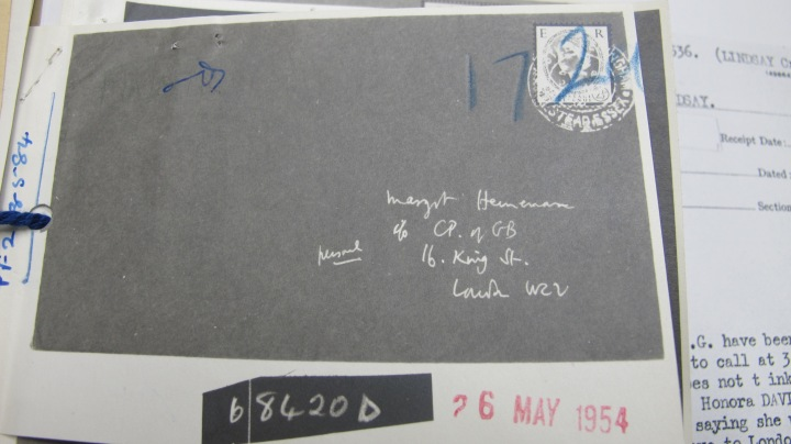 Jack Lindsay Mi5 Intercepted Letter 26 May 1954